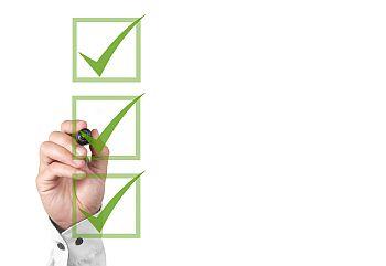 Grüne Checkboxen für Test