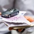Auto auf Geldscheinen - Symbol